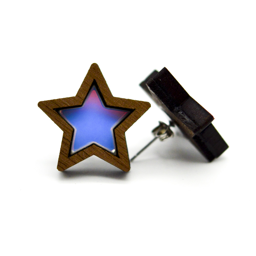 54e4d553b more_vertIridescent Star Stud Earrings