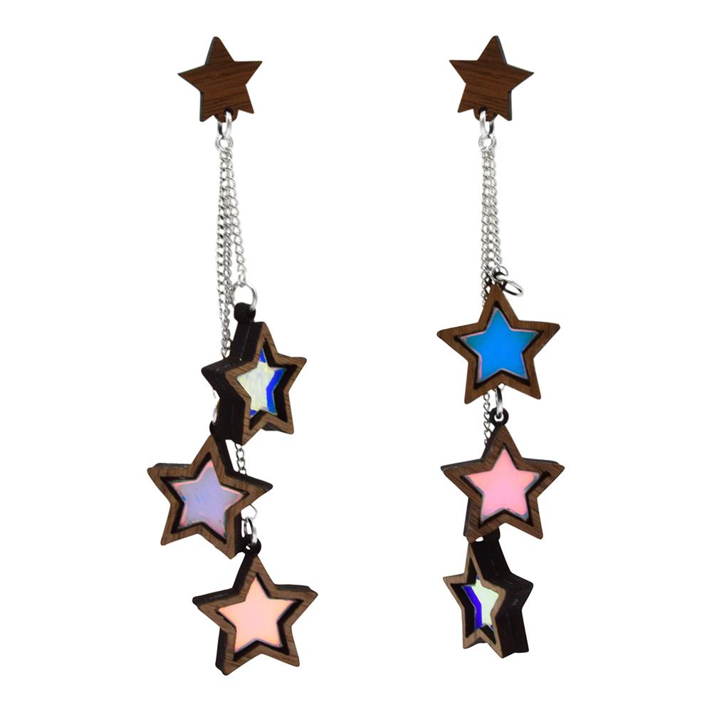 0c7c5f0dc more_vertTriple Iridescent Star Dangle Stud Earrings